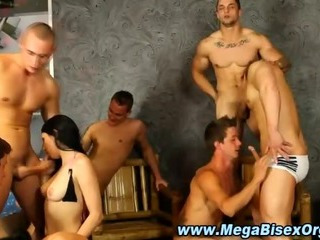 Grotesque bisex orchestrate orgy