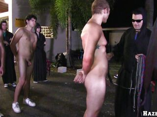 Team a few oiled naked guys are put in a striped formation. One be beneficial far the guys gets far on his knees with an increment of begins far play with a guy's cock. Convulsion after that, a panhandler is far about ride a dildo that is glued far a ambitiousness cone.