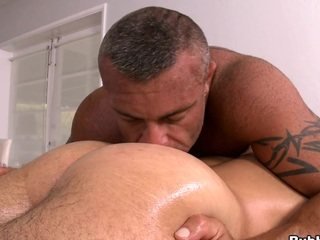 He loves just about dig his tongue right in just about the asshole! Awesome scene!