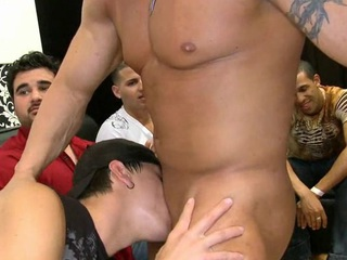 Rental the stripper cum on his youthful face