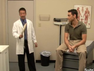 Scatological doctor gets nailed by his gay patient within reach work